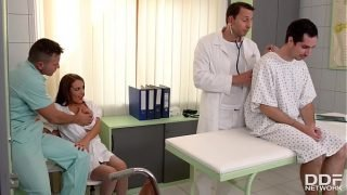 Clinic threesome with Milf Doc Dominica Phoenix leads to double penetration